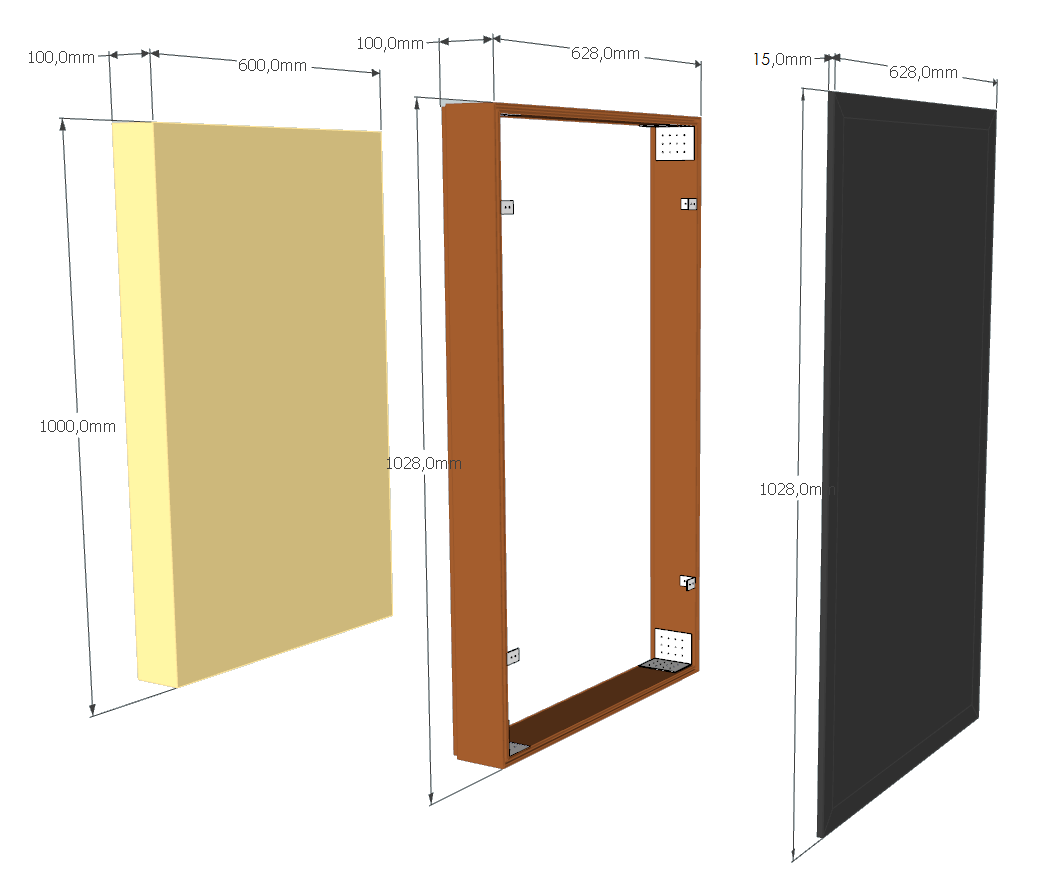 Design of DIY acoustic panel for home studio