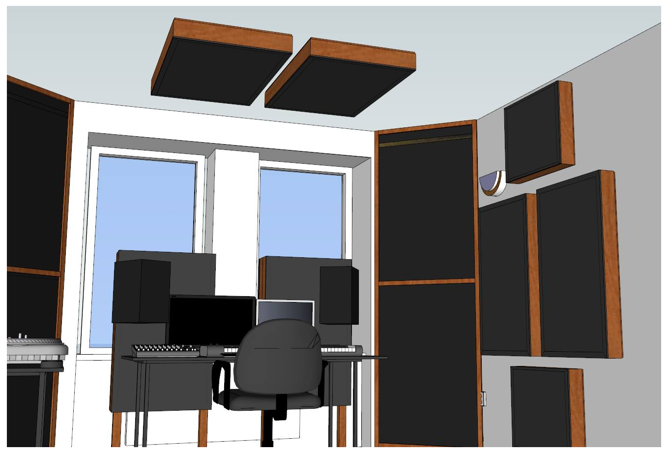 DIY Home Studio Acoustic Panels Placement
