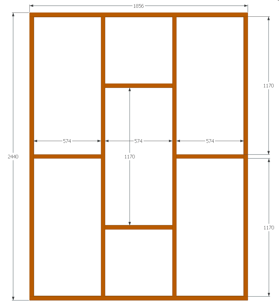 backwall panel front frame design