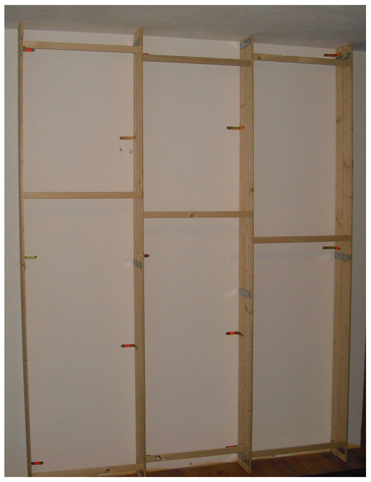 backwall panel partitions holders