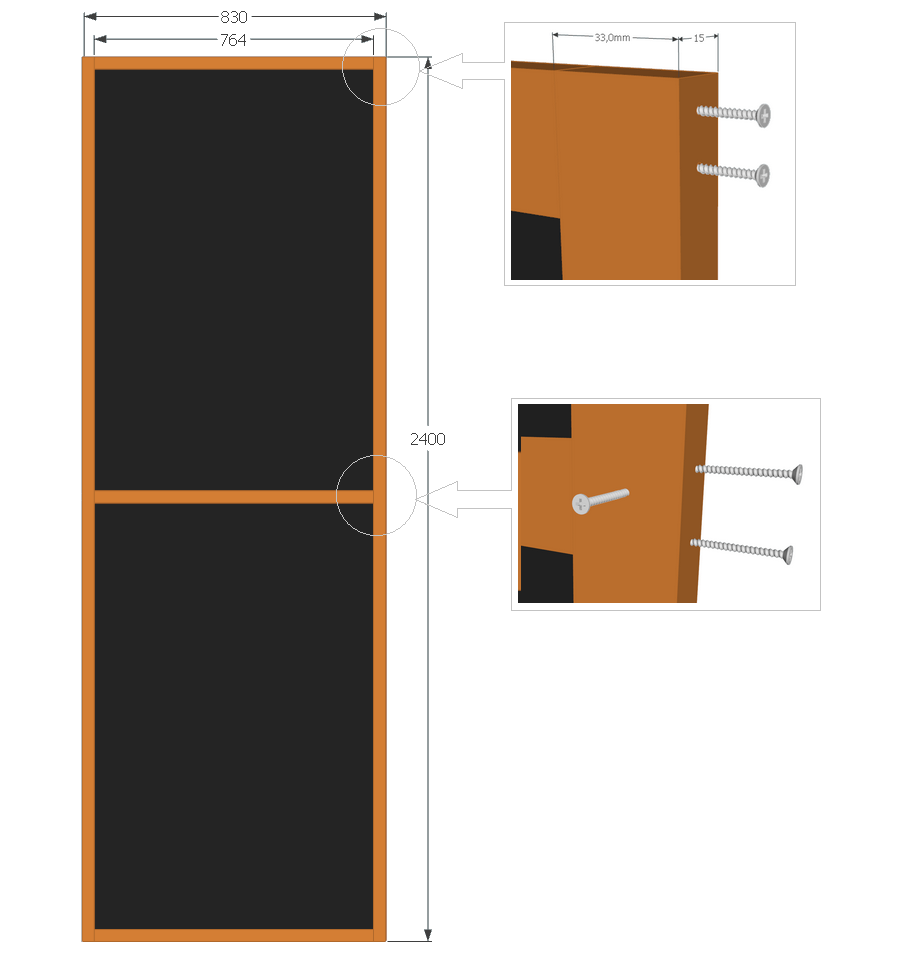 Design of corner bass-trap front frame