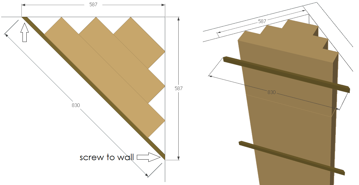Design of corner bass-trap holders