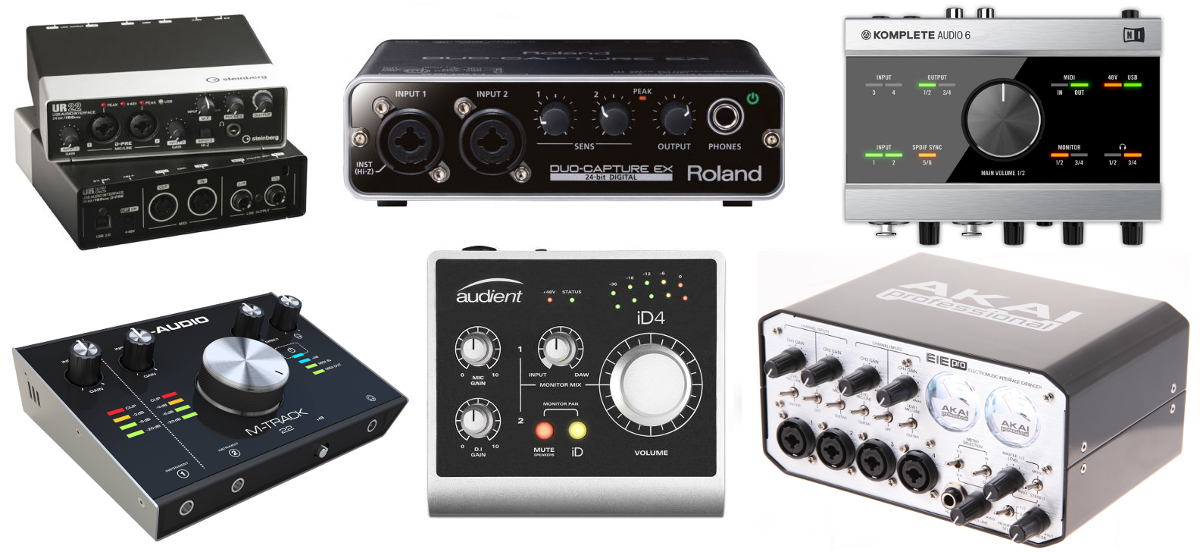 External audio interface - sound cards for home studio