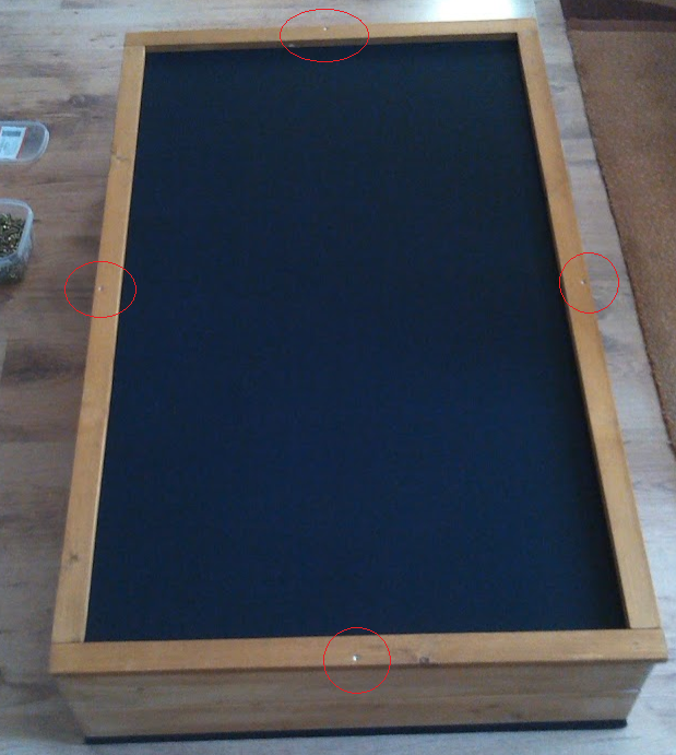 DIY stand alone acoutic panel (bass trap) - front frame in progress - second