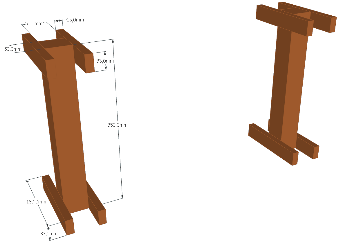 DIY Home studio legs design for stand alone panel (bass trap)